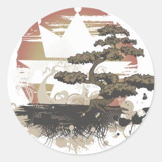 Vintage A.Okay Bonsai Classic Round Sticker