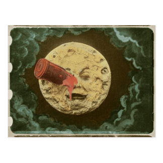 Vintage A Trip to the Moon Silent Movie Postcard