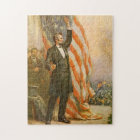Vintage Abe Lincoln American President Independent Jigsaw Puzzle