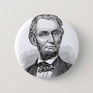 Vintage Abe Lincoln Bust 2 Inch Round Button