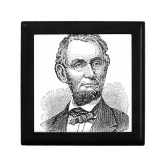 Vintage Abe Lincoln Bust Gift Box