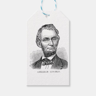 Vintage Abe Lincoln Bust Gift Tags