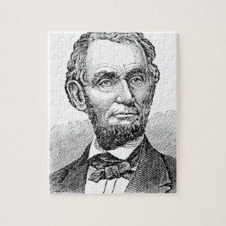 Vintage Abe Lincoln Bust Jigsaw Puzzle