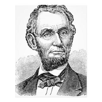 Vintage Abe Lincoln Bust Letterhead