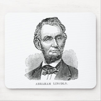 Vintage Abe Lincoln Bust Mouse Pad
