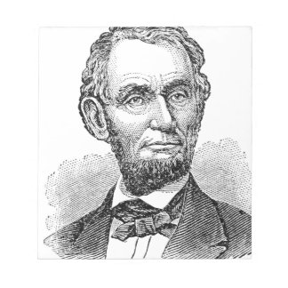 Vintage Abe Lincoln Bust Notepad