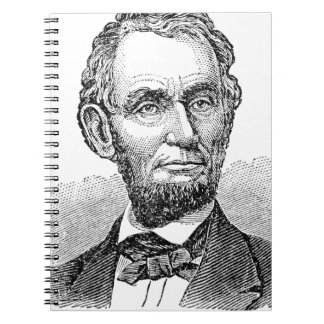 Vintage Abe Lincoln Bust Spiral Notebook