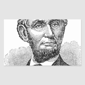 Vintage Abe Lincoln Bust Sticker