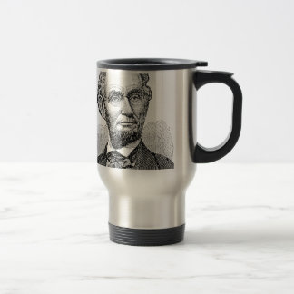 Vintage Abe Lincoln Bust Travel Mug