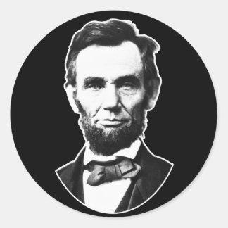 Vintage Abe Lincoln Classic Round Sticker
