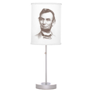Vintage Abraham Lincoln Portrait Table Lamp