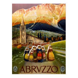 Vintage Abruzzo Italy Travel Postcard