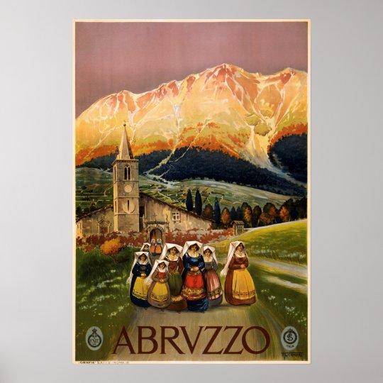 Vintage Abruzzo Italy Travel Poster