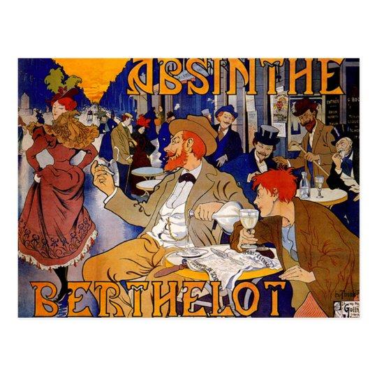 Vintage Absinthe Berthelot Postcard