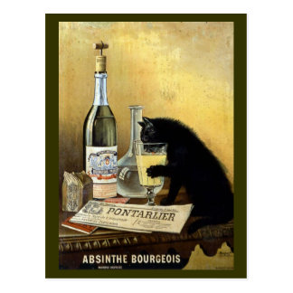 Vintage Absinthe Bourgeois Advertisement Postcard