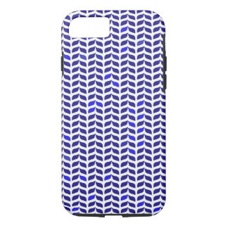 Vintage abstract blue leafs pattern iPhone 7 case