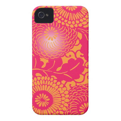Vintage Abstract Floral Pattern iPhone 4 Cover