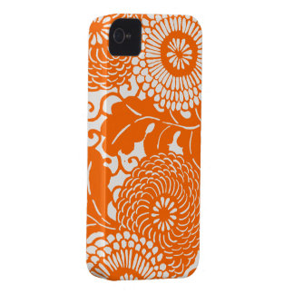 Vintage Abstract Floral Pattern iPhone covers Case-Mate iPhone 4 Case