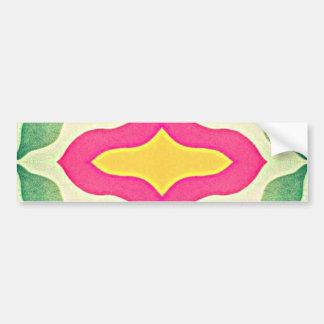 Vintage Abstract Flower Design Bumper Stickers