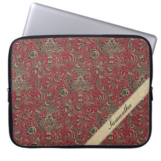 Vintage Abstract Flower Design Laptop Sleeve