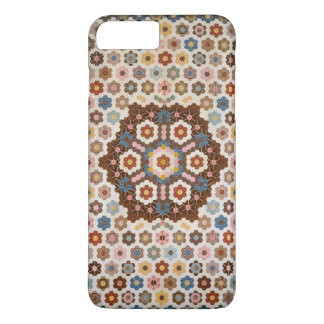 Vintage Abstract Honeycomb Colorful Quilt Pattern iPhone 7 Plus Case