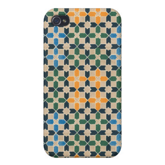 Vintage Abstract Quilt Inspired Tile Fabric iPhone 4 Case