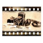 Vintage, accordion-style, folding camera