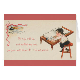 Vintage Accountant Valentine Greeting Card