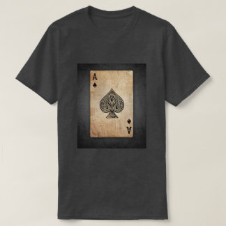 """Vintage Ace of Spades"" Antique print T-shirt"