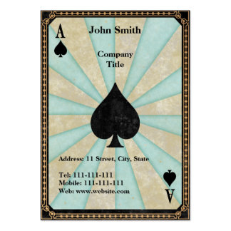 Vintage Ace of Spades Business Card Template
