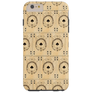 Vintage Ace Spades Playing Cards Collage Tough iPhone 6 Plus Case