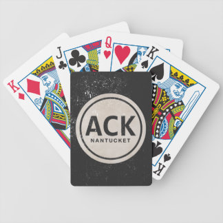 Vintage ACK Nantucket MA Beach Tag Playing Cards