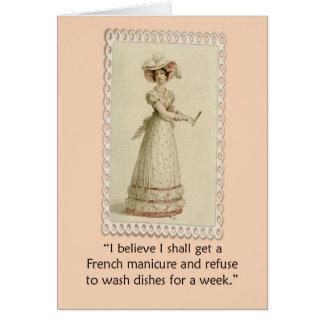 Vintage Ackerman Woman Funny Birthday Card
