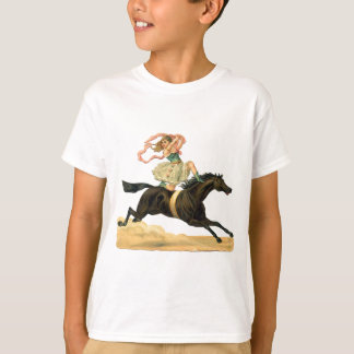 Vintage acrobat girl on A horse T-Shirt