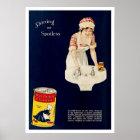 Vintage Ad for Old Dutch Cleanser Poster