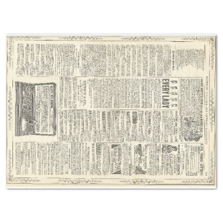 Vintage Ad Page Tissue Paper