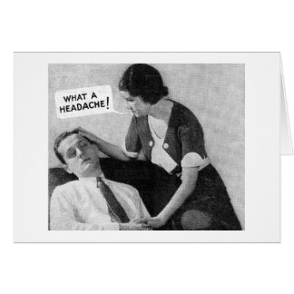Vintage Ad Photo Card - Headache Man