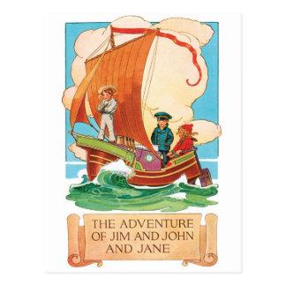 Vintage Ad postcard - Jim, John & Jane