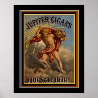 Vintage Ad Poster Jupiter Cigars  ca 1868  16 x 20
