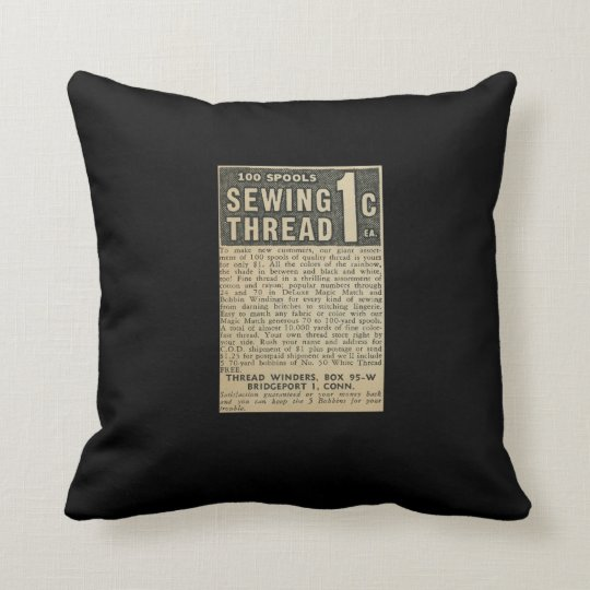 Vintage Ad Throw Pillow