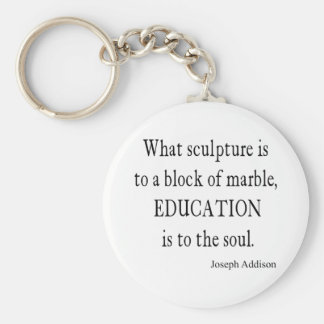 Vintage Addison Education Soul Quote Template Keychain