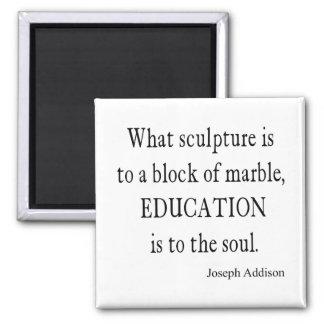 Vintage Addison Education Soul Quote Template Square Magnet