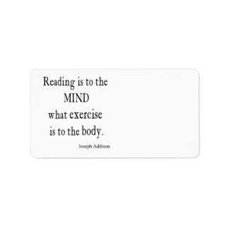 Vintage Addison Reading Mind Inspirational Quote