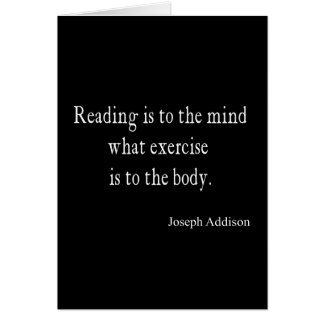 Vintage Addison Reading Mind Inspirational Quote Card