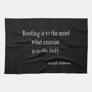 Vintage Addison Reading Mind Inspirational Quote Kitchen Towel