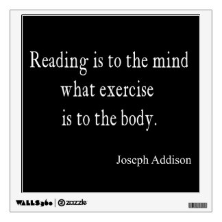 Vintage Addison Reading Mind Inspirational Quote Wall Sticker