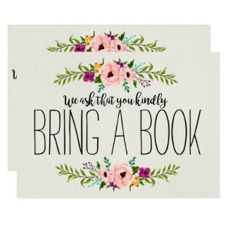 Vintage Adorned with Floral | Bring a Book Card