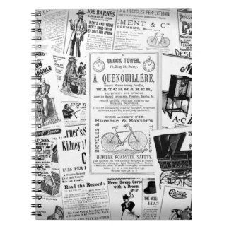 Vintage Ads Notebook - Black & White