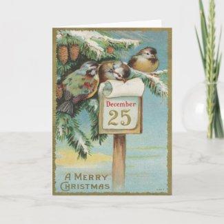 Vintage Advent Calendar Cards