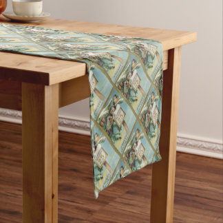 Vintage Advent Calendar Short Table Runner